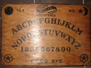 My 1917 original William Fuld Ouija Board (pre-Parker Bros.) is an integral part of the show.