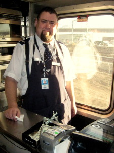 Ron Pasko who runs the lounge car on the California Zephyr