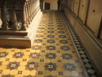 Inlaid marble floors