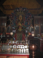 Maitraya Buddha (the Coming Buddha) in the main temple.