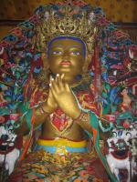 Maitraya Buddha up close.