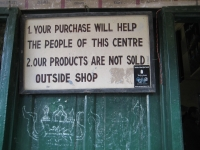 Your purchase will help the people of this centre; our products are not sold outside shop.