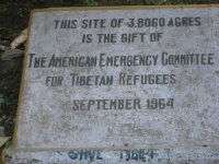 This site of 3.8060 acres is the gift of The American Emergency Committee for Tibetan Refugees, September 1964. Save Tibet.