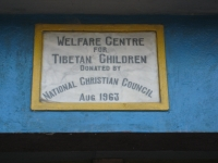 """""""Welfare Centre for Tibetan Children, donated by National Christian Council, Aug. 1963"""